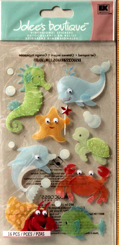 Jolee's Boutique Baby Sea Creatures Dimensional Stickers Embellishments