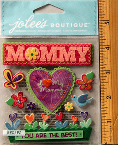 Jolee's Boutique I Love My Mommy Stitched Dimensional Stickers