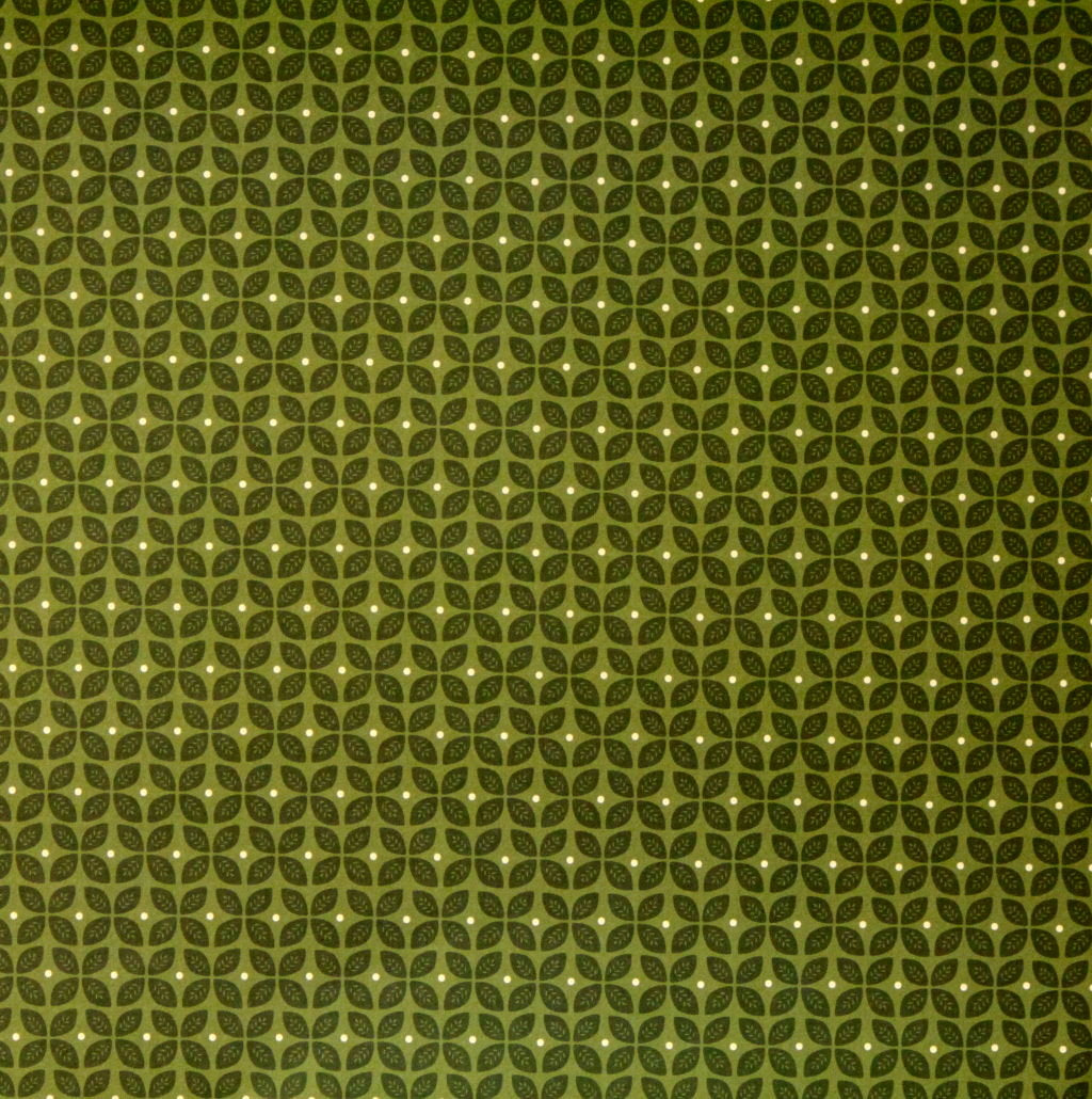 Pebbles 12 x 12 Spring Green Leaves Scrapbook Paper