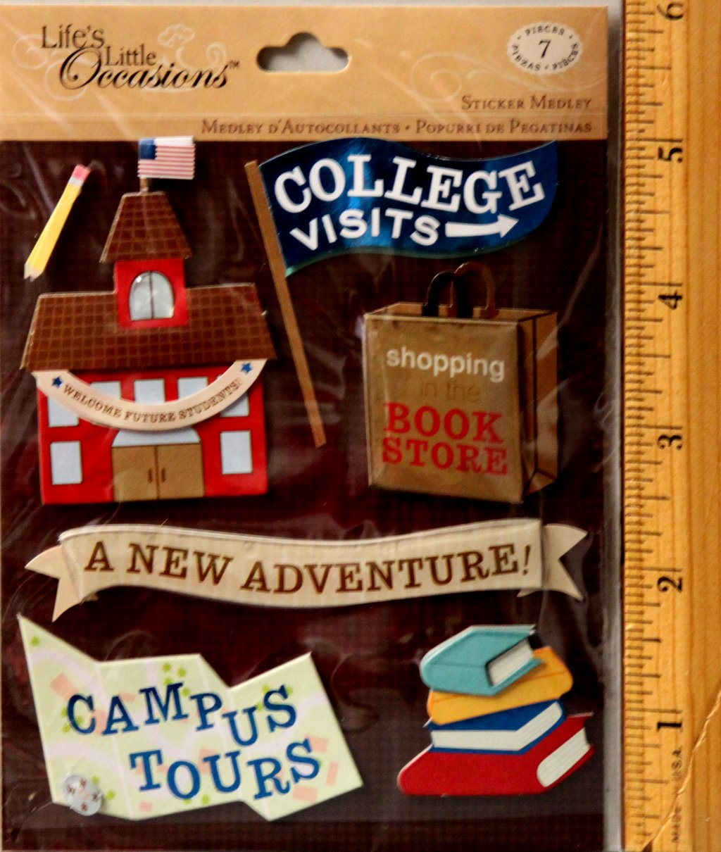 K & Company Life's Little Occasions College Visits Dimensional Stickers Medley