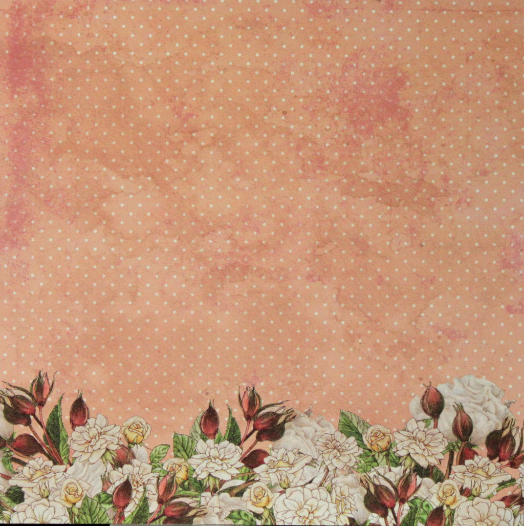 Recollections 12 x 12 English Rose Garden Floral Galore Scrapbook Paper