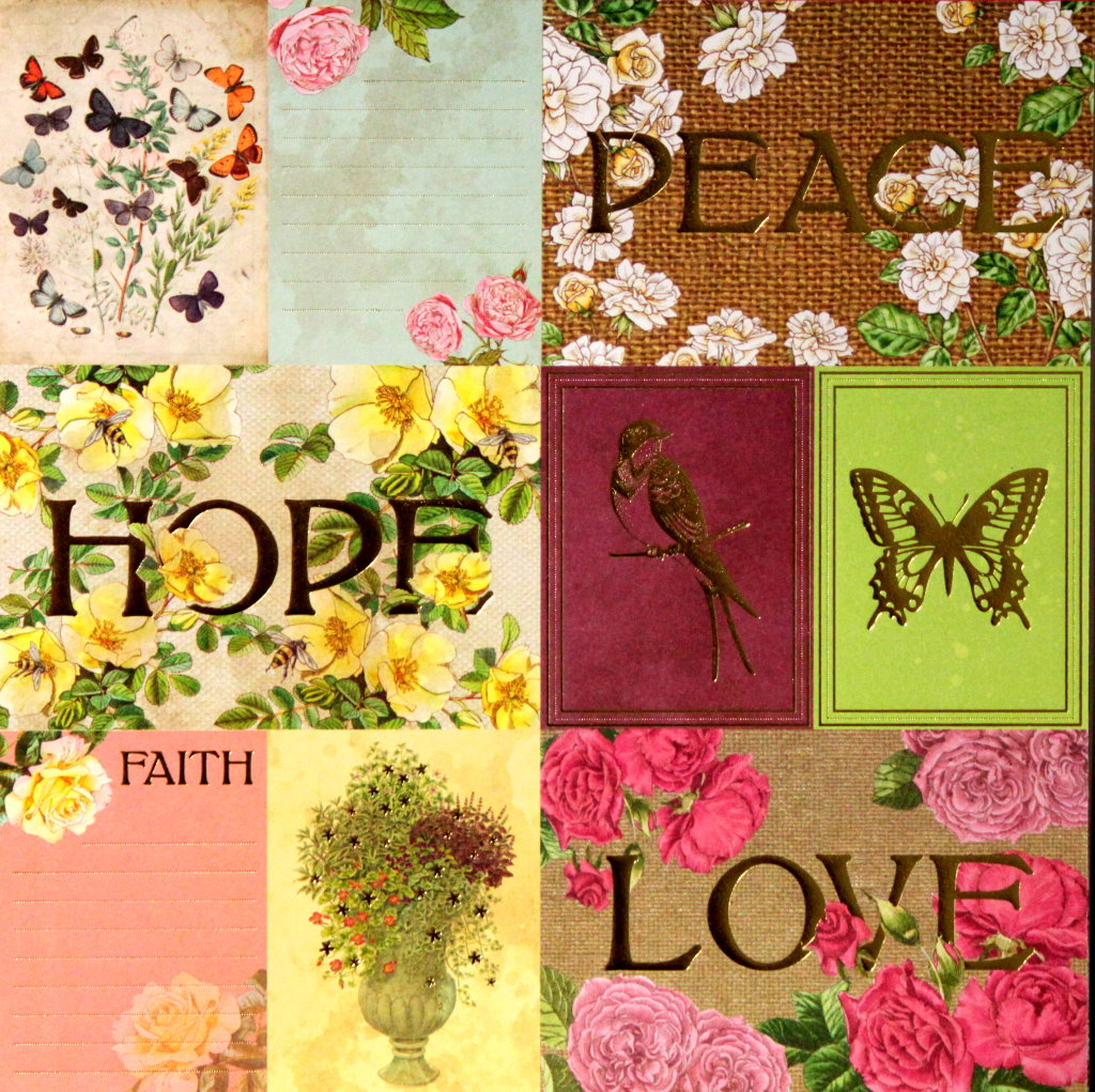 Recollections English Rose Garden Gold Metallic Peace Die-cuts