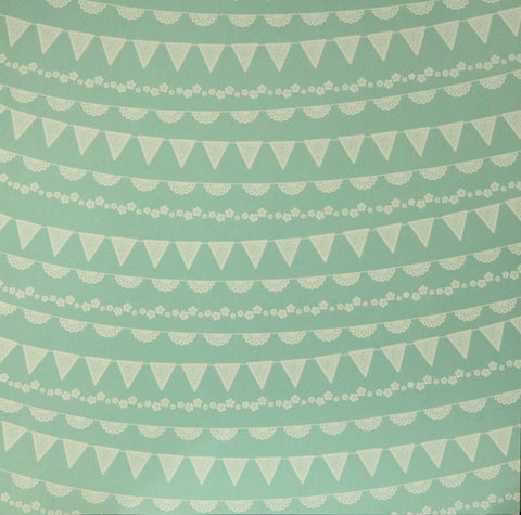 Pebbles 12 x 12 Spring Pretty Pennants Scrapbook Paper