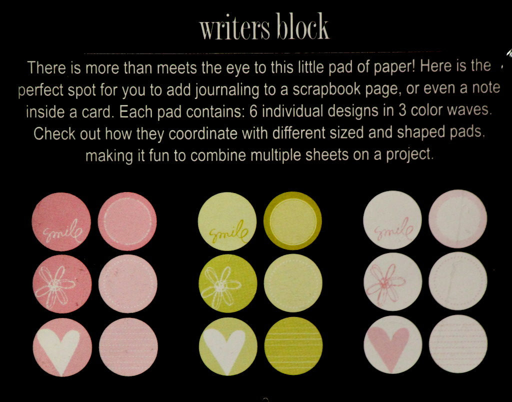 Heidi Swapp Capri Large Circles Writers Block