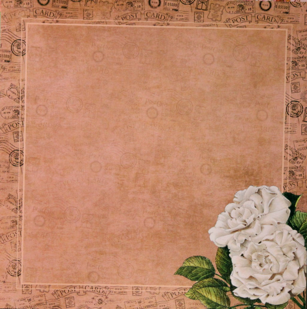 Recollections 12 x 12 English Rose Garden Rose Frame Scrapbook Paper