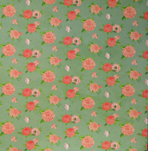 Recollections 12 x 12 English Rose Garden Pink Roses Scrapbook Paper