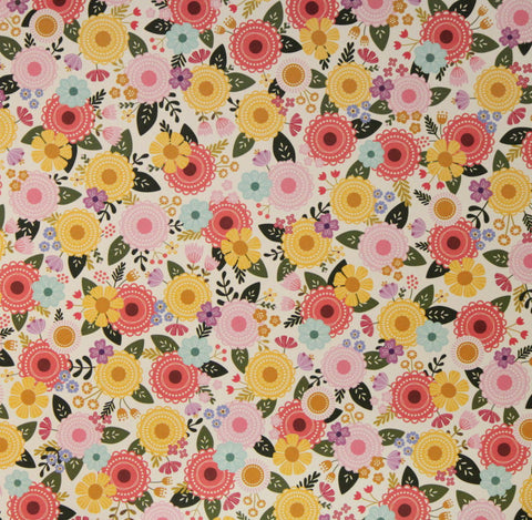 Pebbles 12 x 12 Spring Fancy Flowers Scrapbook Paper