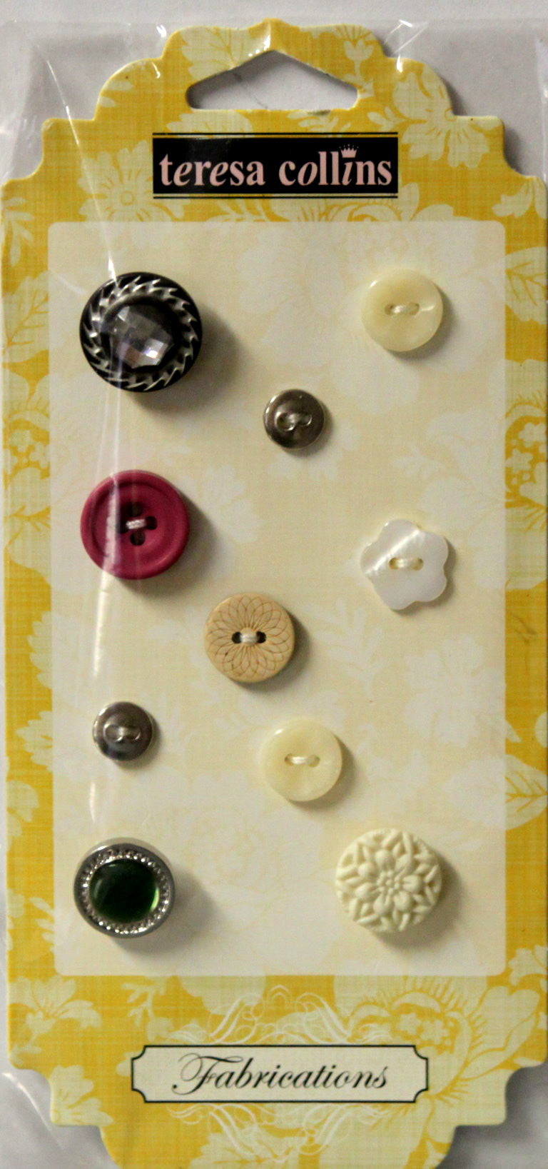 Teresa Collins Fabrications Canvas Buttons Embellishments