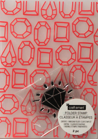 Craft Smart Diamonds Embossing Folder & Stamp Set