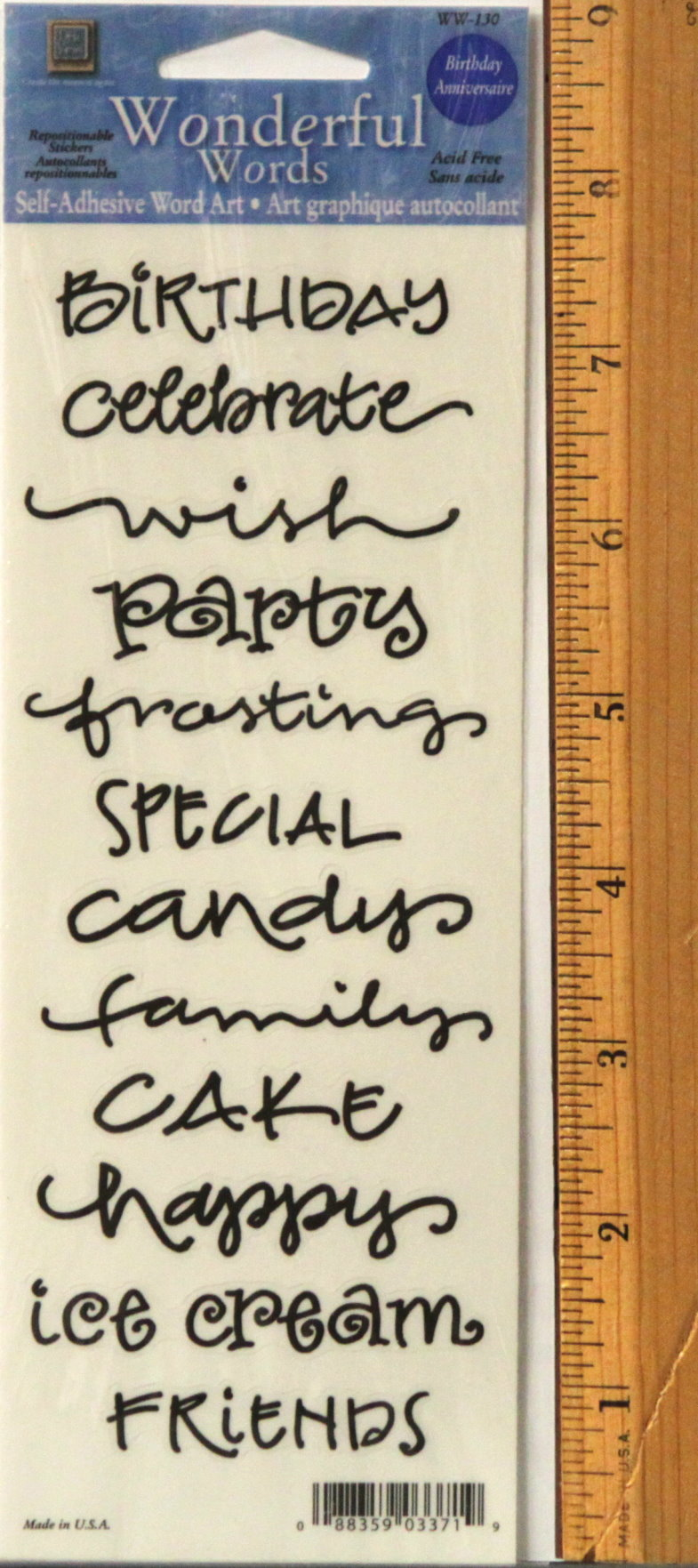 Creative Imaginations paper Stickers Party Birthday Words /& Phrases