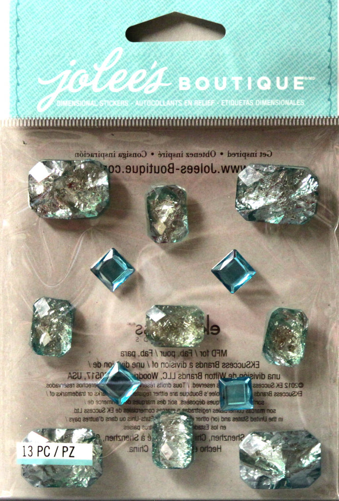 Jolee's Boutique Foil Jewels Sapphire Adhesive Dimensional Stickers