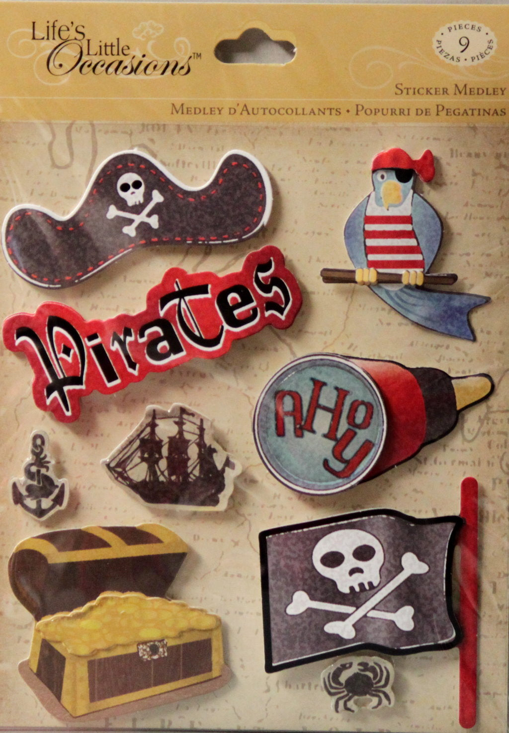 K & Company Life's Little Occasions Pirates Dimensional Stickers Medley
