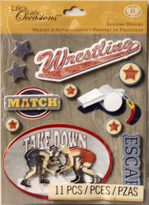K & Company Life's Little Occasions Wrestling Dimensional Stickers Medley