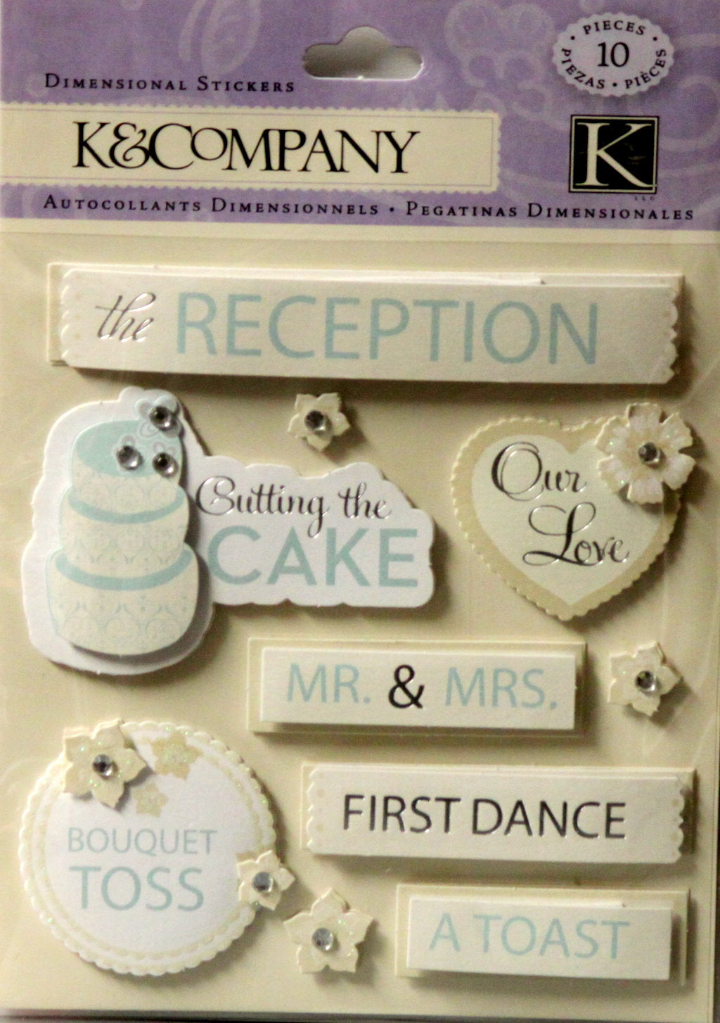 K & Company Wedding Reception Dimensional Stickers