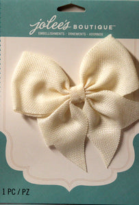 Jolee's Boutique Cream Burlap Large Bow Embellishment Sticker