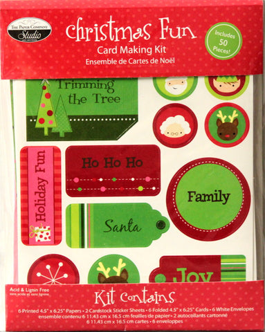 The Paper Company Studio Christmas Fun Card Making Kit
