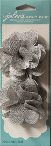 Jolee's Boutique Grey Burlap Flowers Embellishment Stickers