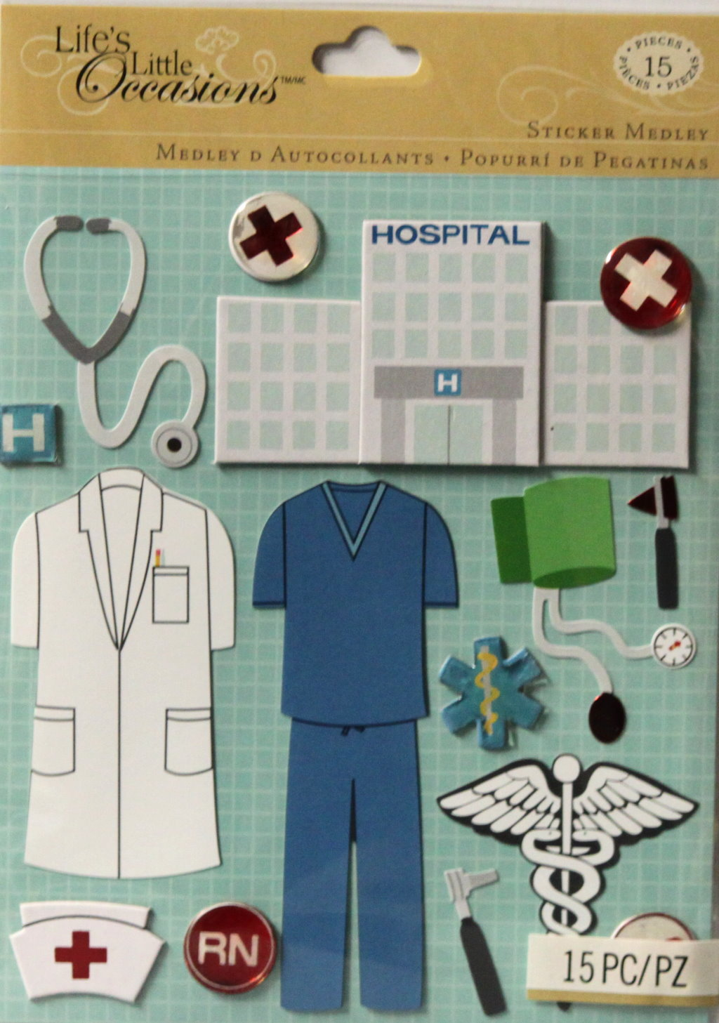 K & Company Life's Little Occasions Doctor & Nurse Dimensional Stickers Medley
