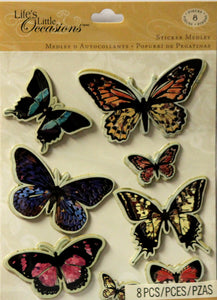 K & Company Life's Little Occasions Butterfly Silhouette Dimensional Stickers Medley