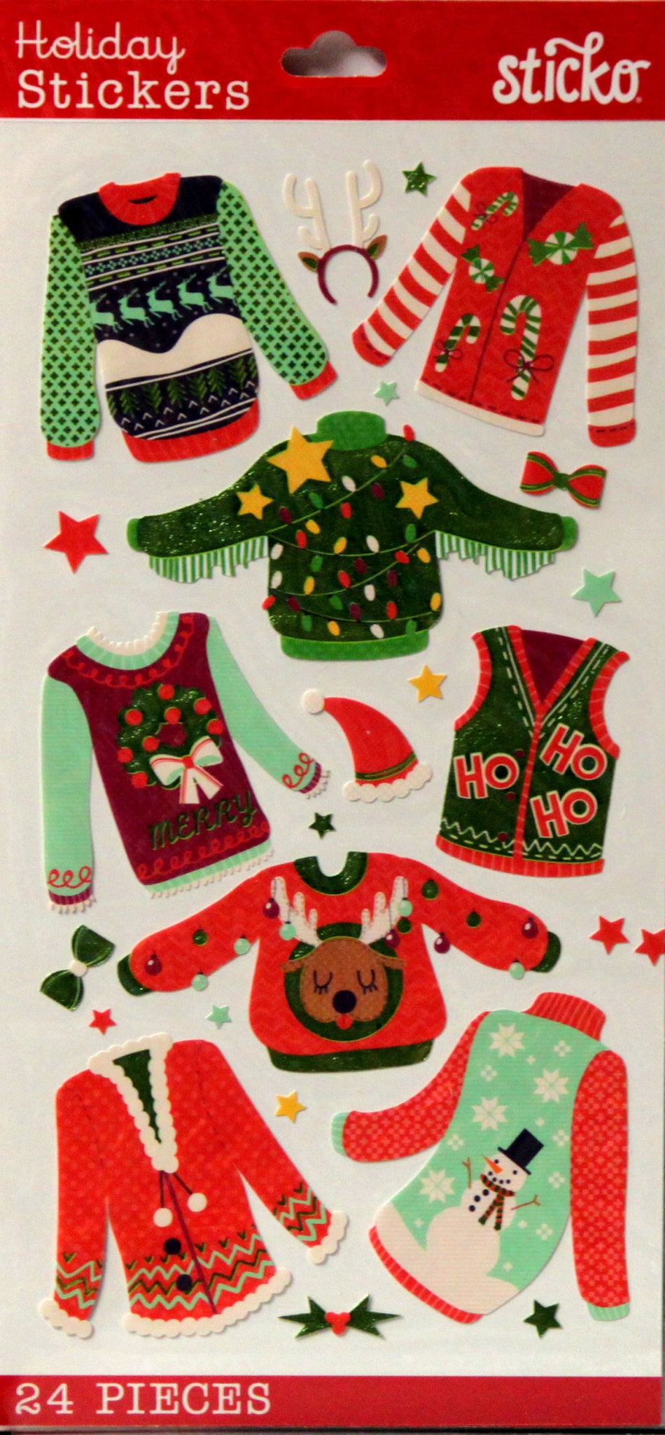 Sticko Holiday Ugly Sweaters Foil Stickers