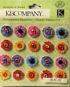 K & Company Tim Coffey Cottage Garden Gem Flowers Dimensional Stickers
