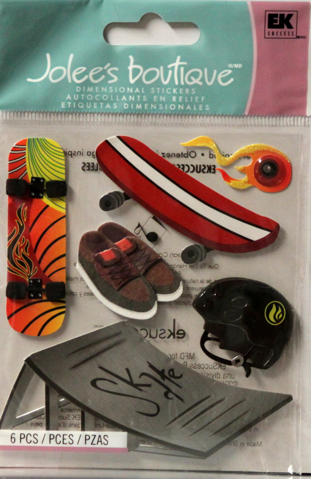 Jolee's Boutique Skateboard Dimensional Stickers