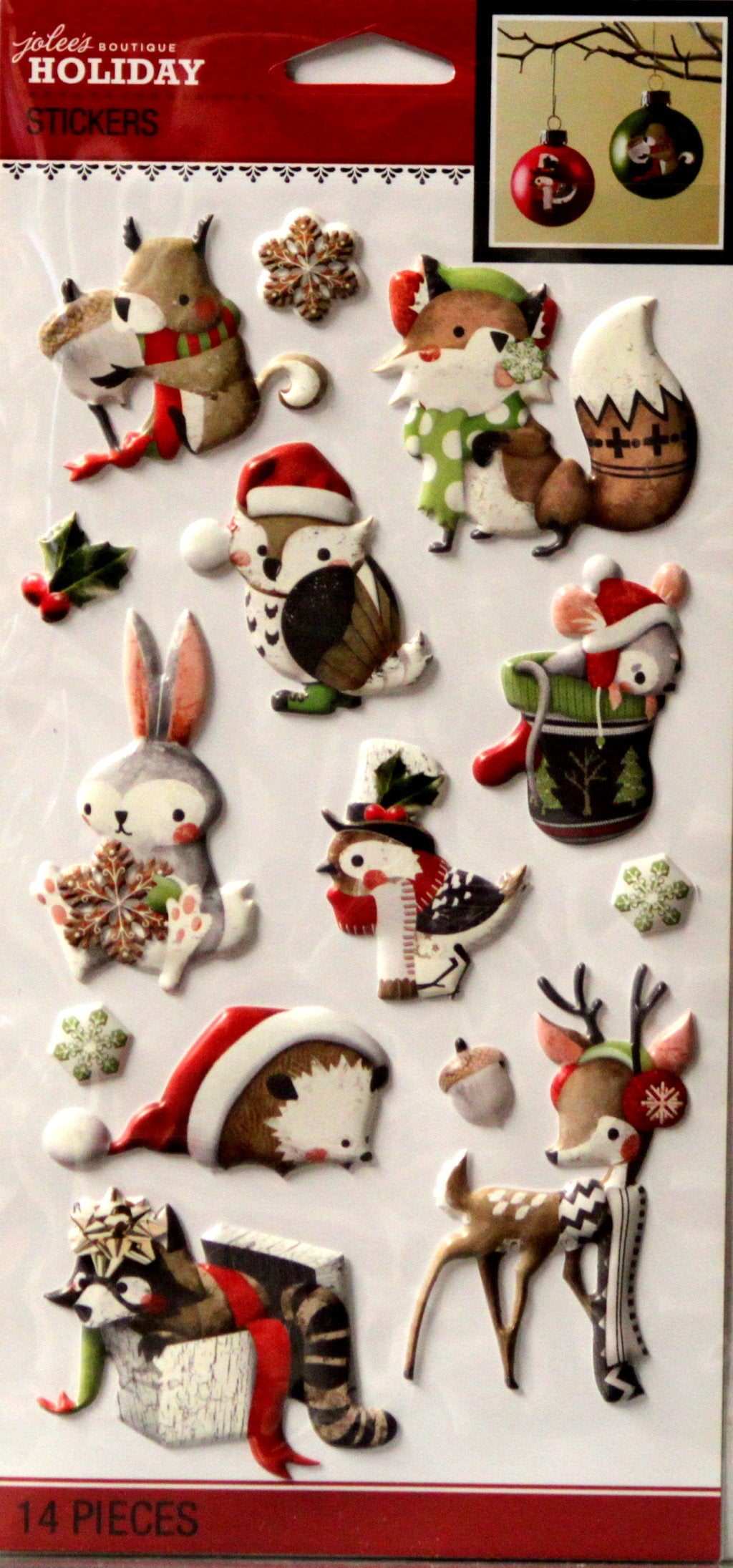 Jolee's Boutique Holiday Animals Puffy Dimensional Stickers Embellishments