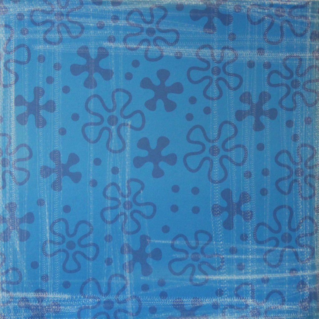 Nicole 12 x 12  Blue Flower Scrapbook Paper