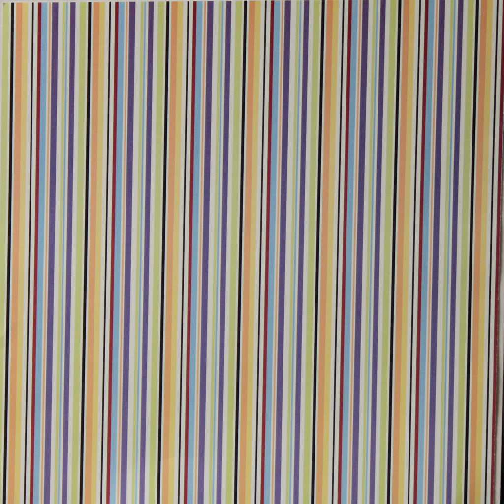 Nicole 12 x 12  Multi-Colored Lines Scrapbook Paper