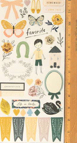 American Crafts Generations Crate Paper Large Sticker Sheet