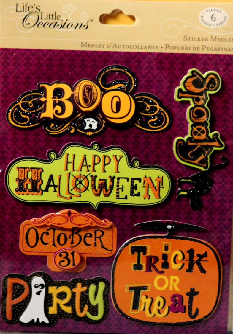 K & Company Life's Little Occasions Halloween Words Dimensional Stickers Medley