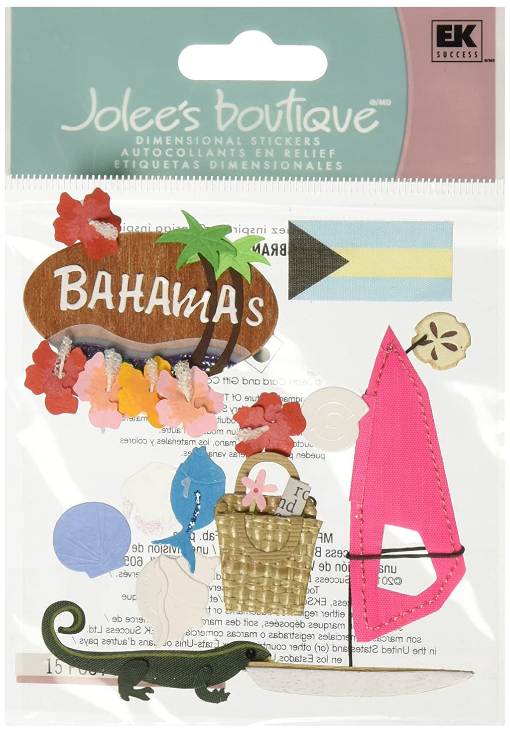 Jolee's Boutique Bahamas Dimensional Stickers