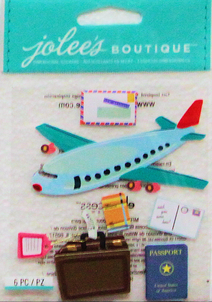 Jolee's Boutique Airplane Travel Dimensional Stickers