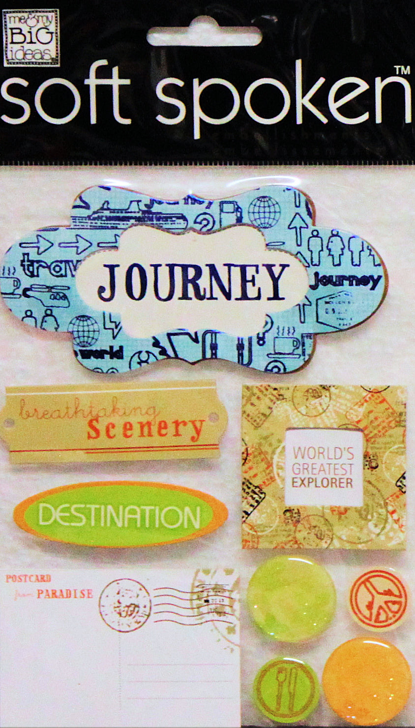 Me & My Big Ideas Journey Dimensional Stickers