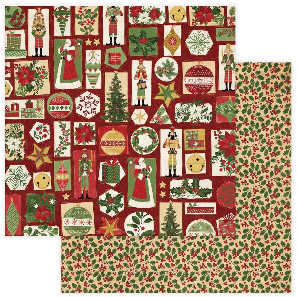 Photoplay 12 x 12 Tis The Season Double-Sided Cardstock Paper