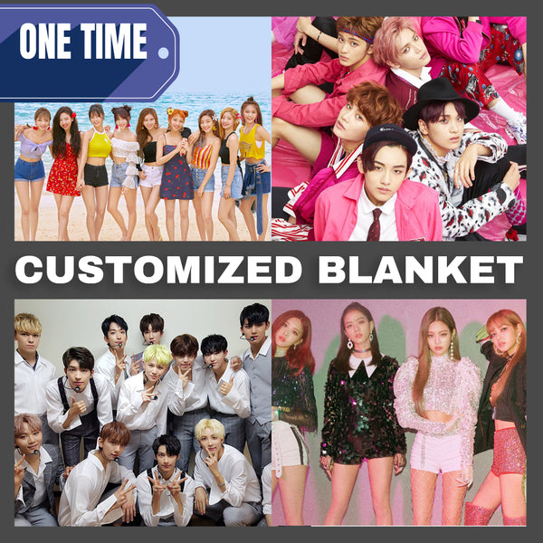 Customized Blanket(**ANY K-POP GROUP/K-DRAMA STAR AVAILABLE**)
