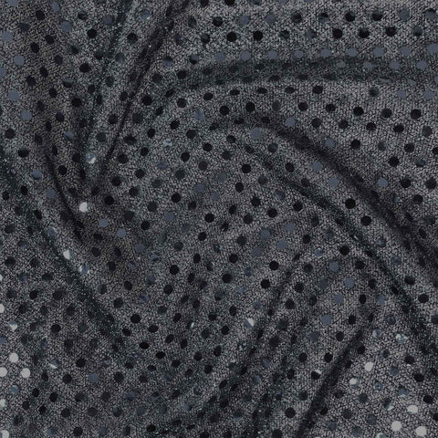 FS585_1 Black Poly Jersey 3MM Sequins