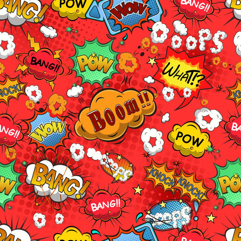 FS161_2 Comic Boom Bang Pow Print *EXCLUSIVE*