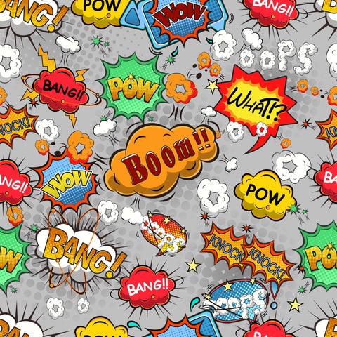 FS161_4 Comic Boom Bang Pow Print *EXCLUSIVE*
