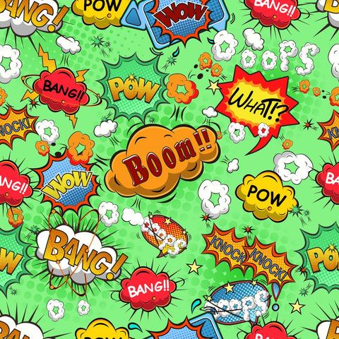 FS161_3 Comic Boom Bang Pow Print *EXCLUSIVE*