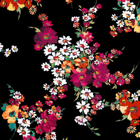 FS189 Black Base Colourful Floral