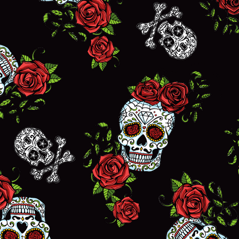 FS343 Skull and Roses - Fabric Styles