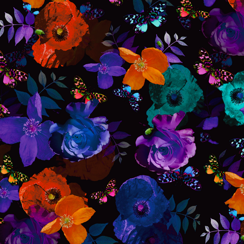 FS419 Butterfly Petunia | Fabric Styles