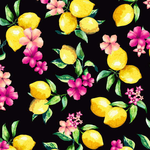 FS295_2 Lemon Floral | Fabric Styles