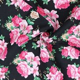 FS819_1 Black Floral Cotton Poplin