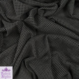 FS001_1 Black Fishnet | Fabric Styles