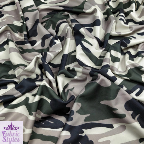 FS012_1 Camouflage Army Print