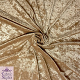 Last 2m FS083_2 Crushed Velvet Velour Fabric Champagne | Fabric Styles
