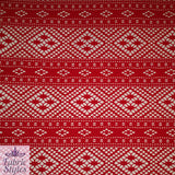 FS084 Red Crochet Design Jersey Fabric | Fabric Styles