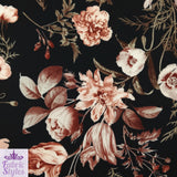 FS101_1 Black Base Floral Print | Fabric Styles